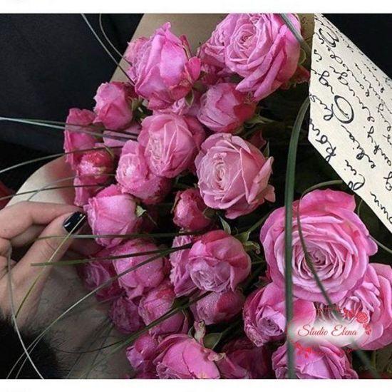 15 веток кустовой розы — Шайни