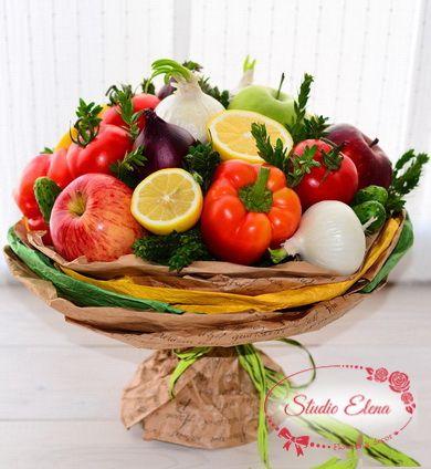 Овощной букет с перцем — Необыкновенный