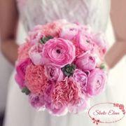 Розовый свадебный букет — Мэрит