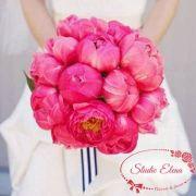 Букет невесты из розовых пионов — Жаклин