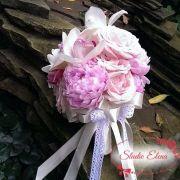 Свадебный букет из пионов и роз — Белария