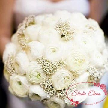 Ніжний букет весільних квітів - Агата