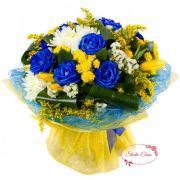 Желто-синий букет — Облако