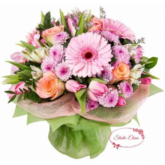 Яскраво літній букет квітів - Лавіка