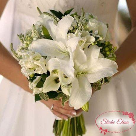 Свадебный букет из лилий и орхидей — Маккензи