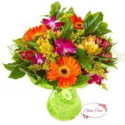 Яркий микс из гербер и других цветов — Арента