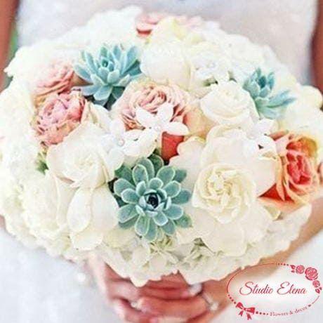 Весільний букет квітів для нареченої - Мей