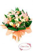 Букет з калл, лілій і троянд - Стейсі