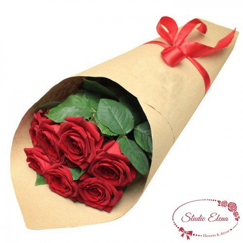 Элегантный букет из роз — Классика