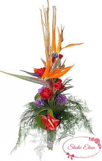 Екзотичний букет квітів - Армані