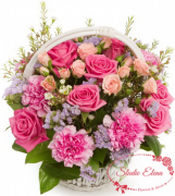 Гвоздики и розы в корзине — Барби