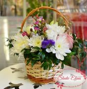 Цветы в корзине — Бусинка