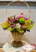 Микс цветов в корзине — Цветочная мозаика