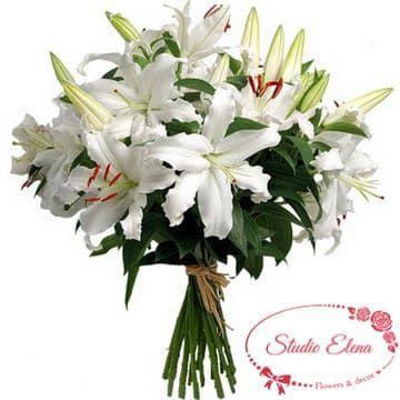Свіжий букет - Біла лілія