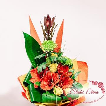 Шикарный букет цветов — Разноцветная клумба