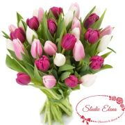 Креативный букет из тюльпанов — Феникс