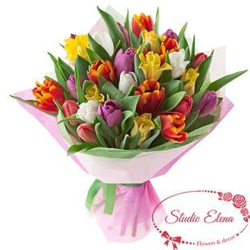 Букет з піоновидних тюльпанів - Граф