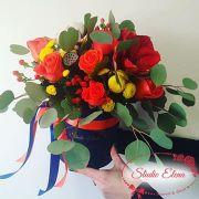 Зимний букет цветов — Идеальный подарок в коробке