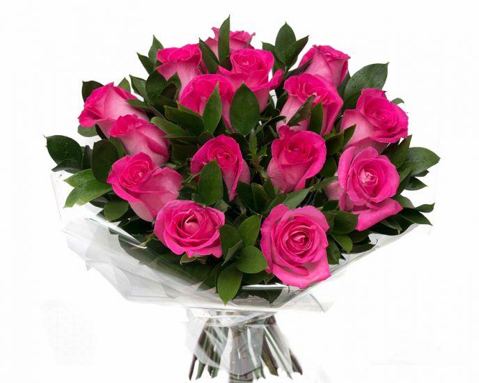 Букет з 15 троянд Топаз - Сплеск радості