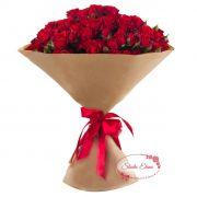 Букет из веток красной розы — Искренность