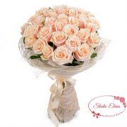 Чудо-букет из кремовых роз — Силк
