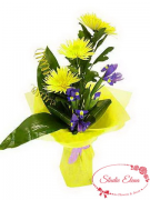 Букет хризантем и ирис — Для дорогого