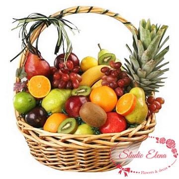 Тропические фрукты в корзине — Тропико