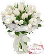 Букет белых тюльпанов — Гармония