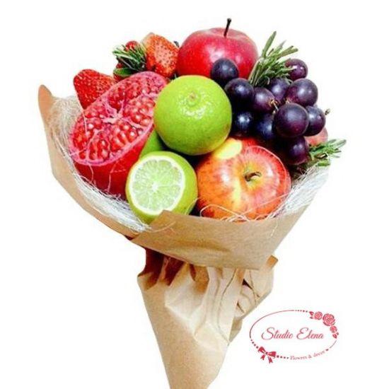 Букет із свіжих фруктів - Струнка