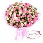 Букет из веток кустовой розы — Мечта