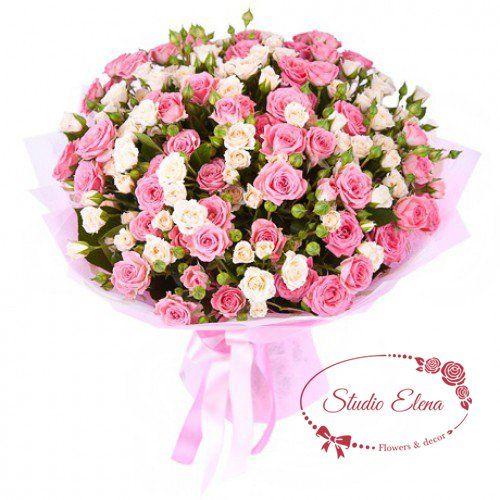 Букет з гілок кущовий троянди - Мрія