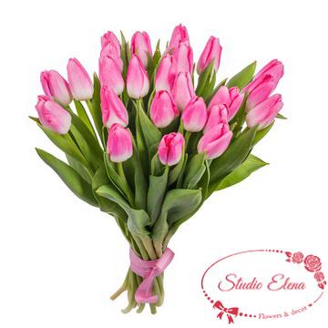 Букет розовых тюльпанов — Изюминка