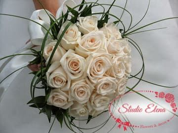 Свадебный букет из роз — Линетт