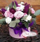 Микс цветов в коробке