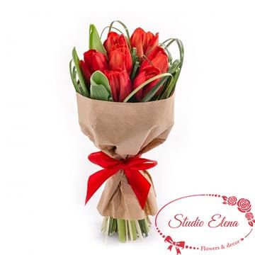 Красивый букет тюльпанов — Алые паруса