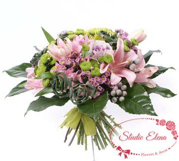 Микс цветов в букете — Арома