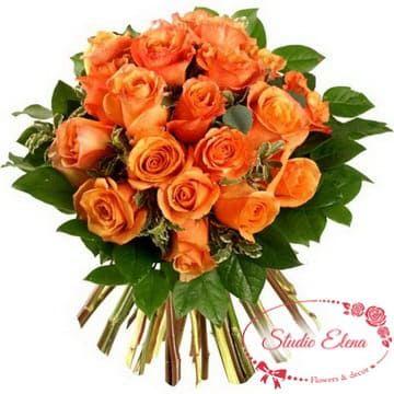"""Букет роз """"Вау"""" оранжевого цвета"""