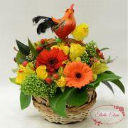 Весенние цветы в коробке — Цыпленок