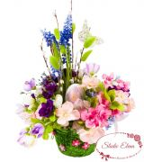 Весняні квіти в кошику - Великодній Бум