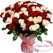 Букет из красных и белых роз — Песня Сердца