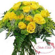 Красивый букет из роз и хризантем — Радость