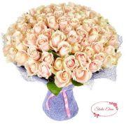 Букет из 101 кремовой розы — Демми