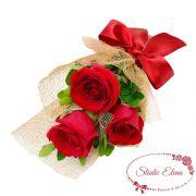 Букет з 3 червоних троянд - Романтичний танець