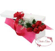 Голландские розы в коробке — Сюрприз для любимой