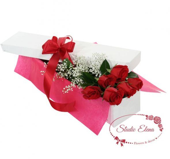Голландські троянди в коробці - Сюрприз для коханої