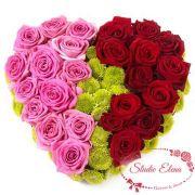 Букет красных и розовых розы — Сладость