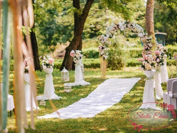 Красива прикраса весільних залів - Сонячний день