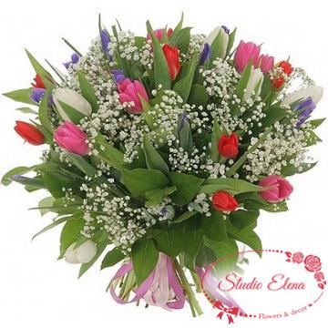 Эффектный букет цветов — Світанок