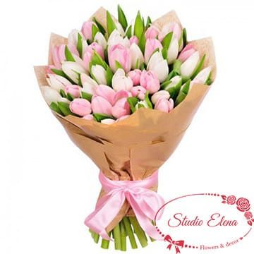 Микс тюльпанов — Зефир