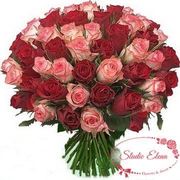 Нежный букет из 45 роз — Лавина